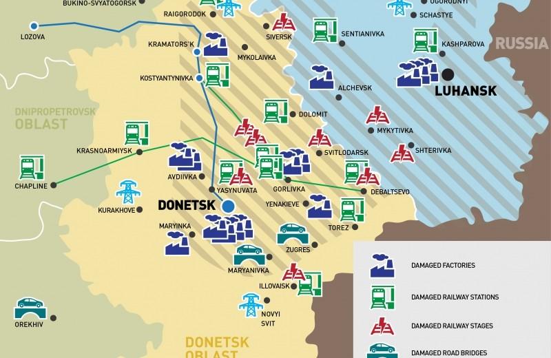 Infrastructure damage in Ukraines east is massive blow to economy