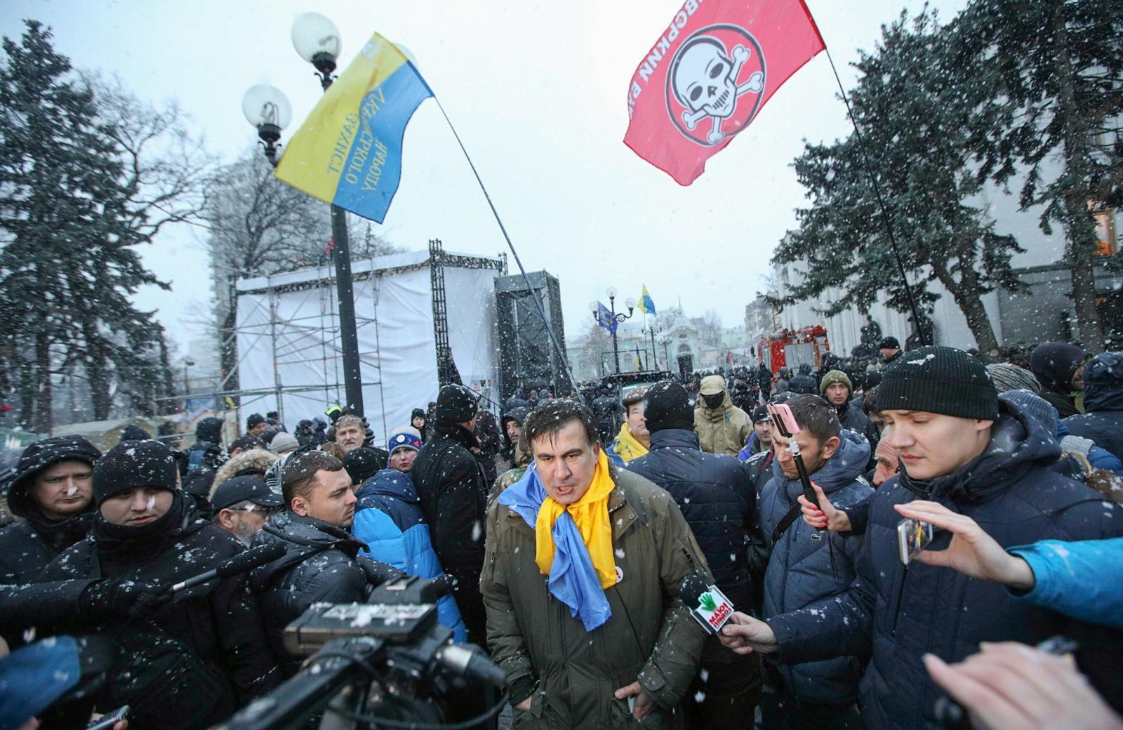Saakashvili in court, in Kiev protests (photo) 49